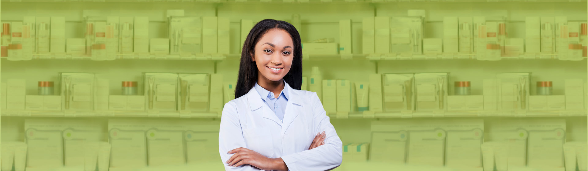 young pharmacist smiling