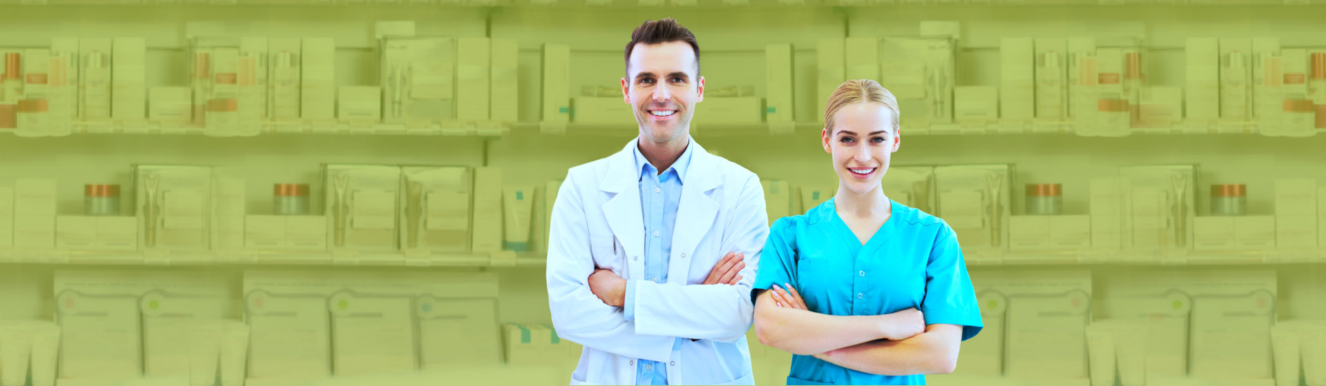 two pharmacist smiling